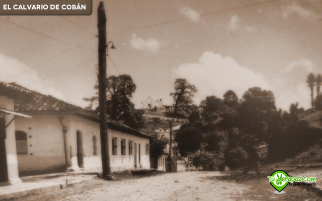 Vista desde la 2a. calle, donde actualmente se encuentra la SAT. Se desconoce la fecha y el autor. Edición: Jorge Mario Peláez - 2015