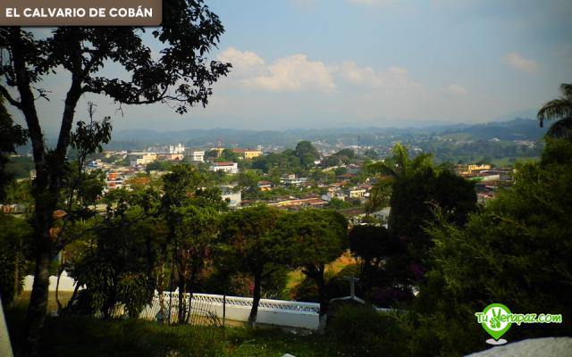 Vista parcial de la ciudad de Cobán hacia el centro, desde el mirador de El Calvario. Foto: Fredy Barrios