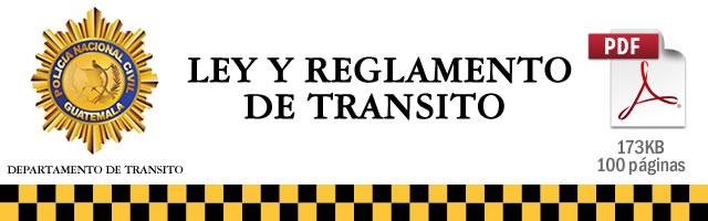 Ley y Reglamento de Transito de Guatemala 2015