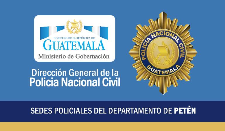 PNC Policía Nacional Civil - Comisaria 62 Petén